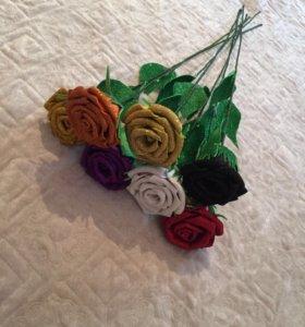 Розы из фоомирана
