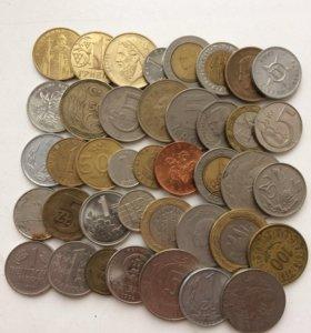 Иностранные монеты,наборы.