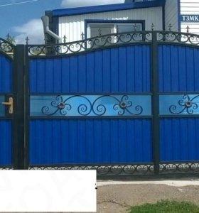 Кованые ворота N8