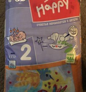 Подгузники Bella baby Happy mini 2( 3-6кг)