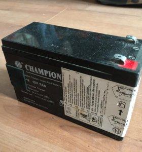 Аккумулятор champion 12V 7Ah