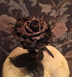 Розы из металла(букет)