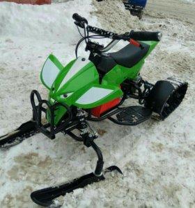 Электро Снегоход + Квадроцикл 2 В 1