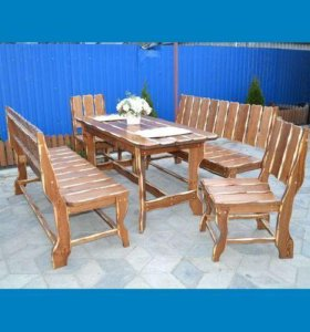 Комплект деревянной мебели. Длина 1.5 м