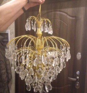 Люстра хрусталь брызги шампанского