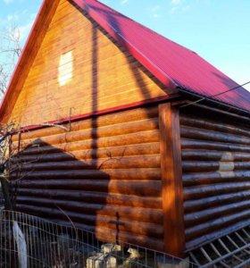 Сруб дома бани 4х6 из хвойного леса Псковщины