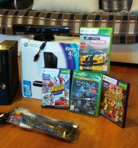 Xbox 360 SLIM 4GB KINECT+ ПРОШИВКА freebot и игры