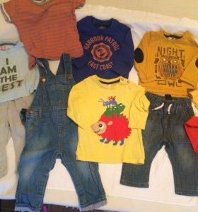 Одежда пакетом на мальчика 74