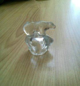 Хрусталя статуэтка-медведь