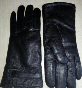 Перчатки кожаные теплые