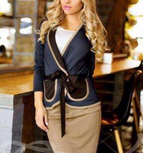 Костюм блузка + юбка + жакет