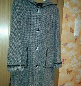 44-46 Пальто пиджак с капюшоном