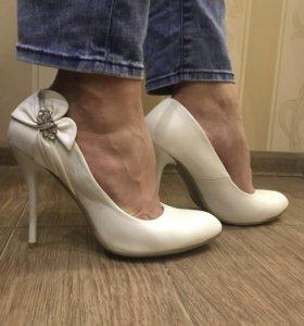 Свадебные туфли , кожа,размер 39