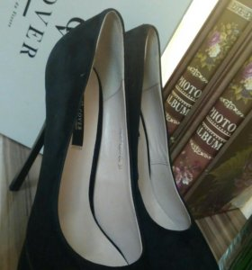Туфли новые с чеком натуральная замша