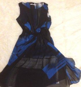 Синее платье Akas Ecou