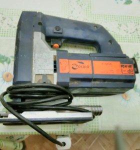 Электролобзик на детали