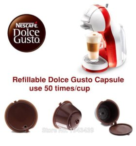 2 многоразовые капсулы Dolce Gusto