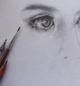 Рисую портреты на заказ и не только