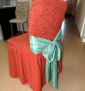 Чехлы для стульев 6 шт.