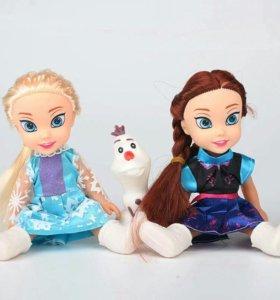 Куклы новые Анна, Эльза и Олаф.