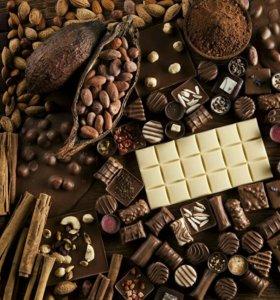 Шоколад, Рафаэлло, нуга и много других сладостей!!