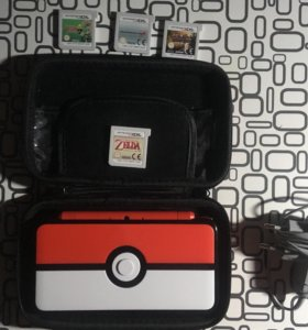 Nintendo 2DS XL Pokeball Edition + 16gb sd card