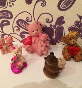 Сувениры фигурки мишки