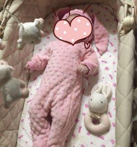 Комбинезон заяц розовый