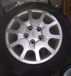 Штампы с колпаками Hyundai оригинальные