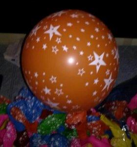 разноцветные воздушные шары, 50 шт
