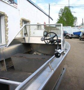 Новая алюминиевая цельносварная лодка wellboat-45