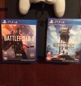 Игры PS4 battlefield 1 , battlefront.