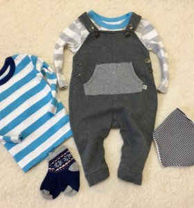Одежда на мальчика 2-4мес
