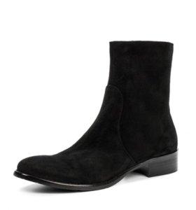Шикарные зимние замшевые ботинки 36 р