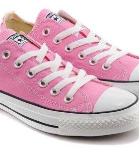 Converse розовые/мятные