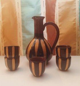 Керамические кувшин и стопки (Болгария)