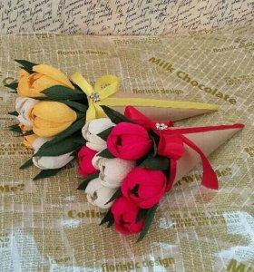 Подарки: цветы из конфет