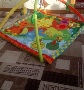Развивающий коврик и мобиль