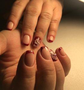 Покрытие, наращивание ногтей