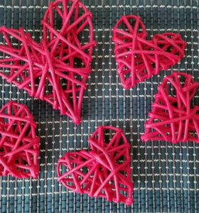 Плетеные сердечки