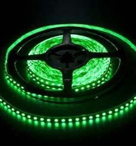 Зелёная светодиодная лента 5 метров