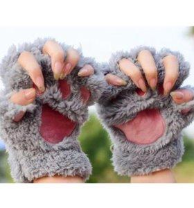 Перчатки лапки новые