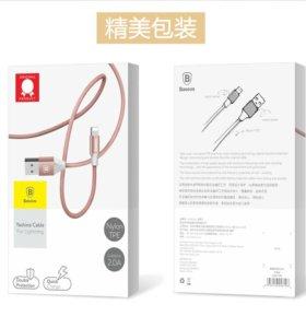 BASEUS 2A кабель USB для iPhone 5 5S 6S 6 7 Plus