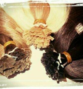 Капсулирование волос для горячего наращивания