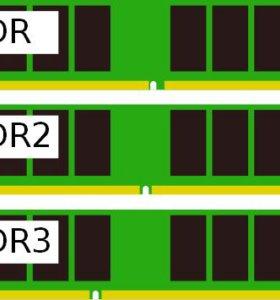 Оперативная память DDR, DDR2, DDR3