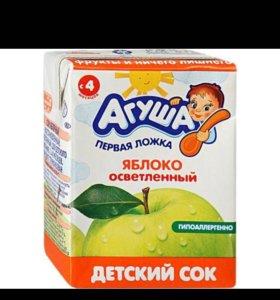 Соки фруктовые Агуша