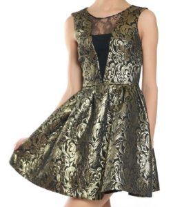 Золотое с черное платье
