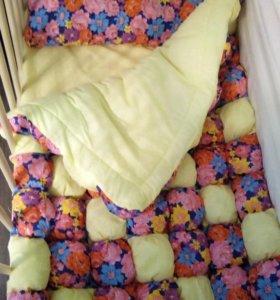 Бортики и одеяла в стиле бонбон