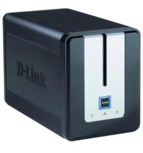 Сетевой дисковый накопитель D-Link DNS-323