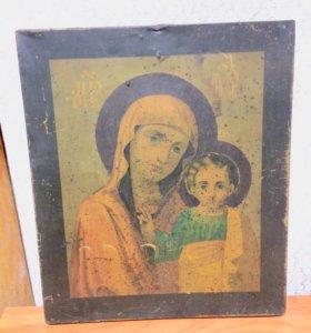 Икона Божией матери. Металлография.